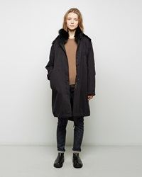 Army By Yves Saloman Raccoon Fur Lined Fishtail Parka Black