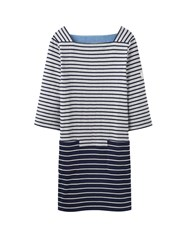 Joules 3 4 Sleeve Casual Dress Grey