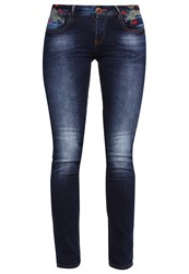 Desigual Olga Slim Fit Jeans Denim Medium Wash Blue
