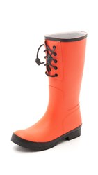 Sperry Walker Spray Rain Boots Orange Black
