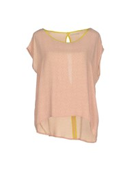 Pieces Shirts Blouses Women Pink