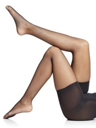 Spanx Uptown Tight End Micro Fishnet Tights Nude Black