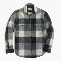 J.Crew Wallace And Barnes Shirt Jacket In Wool Brookline Plaid Faded Chino