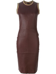Stouls Leather Midi Dress Red