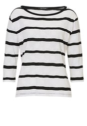 Betty Barclay Striped Oversized Top Black White