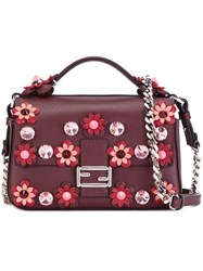 Fendi Micro 'Double Baguette' Crossbody Bag Pink And Purple