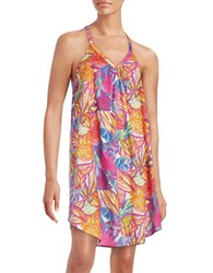 Lauren Ralph Lauren Tropical Floral Gown Pink Multi