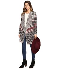 Lucky Brand Mixed Striped Cardigan Multi Women's Sweater