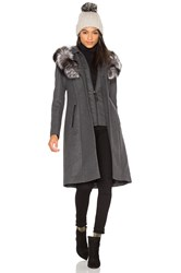 Mackage Mila Fox Fur Coat Charcoal