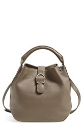 Etienne Aigner Mini Leather Bucket Bag Putty