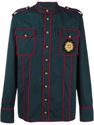 Balmain Military Shirt Blue