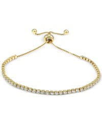 Giani Bernini Cubic Zirconia Adjustable Bracelet In 18K Gold Plated Sterling Silver Only At Macy's