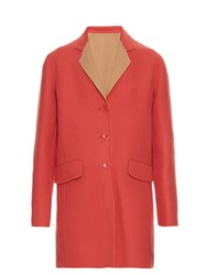 Etro Double Faced Wool Coat Pink