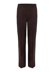 New And Lingwood Dowsby Panama Suit Trousers Claret