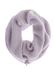 Mint Velvet Lilac Rib Knit Snood Purple