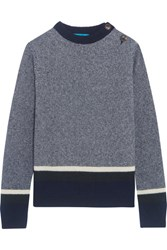Mih Jeans M.I.H Striped Wool Blend Sweater Blue