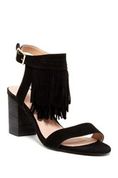Restricted Kissy Fringe Heel Black