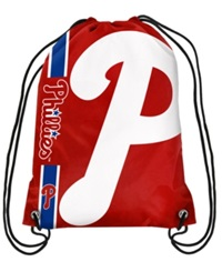 Forever Collectibles Philadelphia Phillies Big Logo Drawstring Bag Red