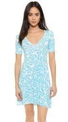 Clayton Naya Dress Turquoise Sunflower