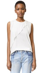 3.1 Phillip Lim Cutout Tank With Cascading Ruffle Antique White
