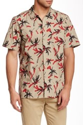Obey Gulf Print Woven Short Sleeve Shirt Short Sleeve Regular Fit Shirt Beige