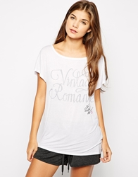 The Intimate Collection By Britney Spears Jersey Oversized Tee White