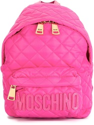 Moschino Quilted Backpack Pink And Purple
