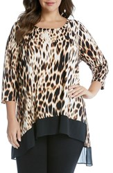 Karen Kane Plus Size Women's Animal Print Tunic Top