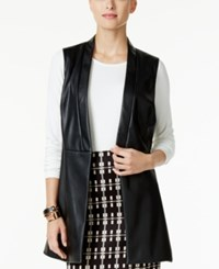 Alfani Faux Leather Vest Only At Macy's Deep Black