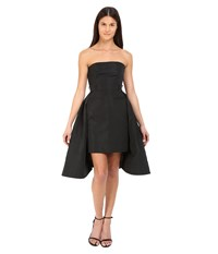 Vera Wang Bustier Dress W Tailored Pencil Skirt And Pleated Back Black Women's Dress