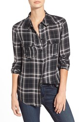 Paige 'Mya' Plaid Shirt Black Rosewater