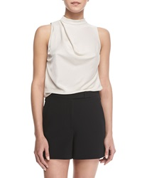 Halston Heritage Sleeveless Cowl Back Top X