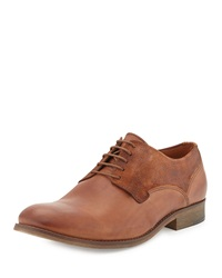 Modern Vintage Anson Leather And Suede Oxford Brandy