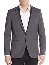 Theory Regular Fit Stirling New Tailor Tux Jacket Grey Heather