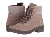 Hush Puppies Dorris Fairley Taupe Wp Leather Women's Cold Weather Boots Khaki