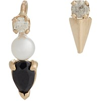 Loren Stewart Women's Multi Gemstone Gold Pin And Stud Earring Set No Color