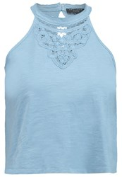 New Look Petite Bella Battern Top Light Blue