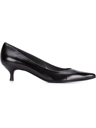 Stuart Weitzman Kitten Heel Pumps Black