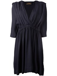 Vivienne Westwood Anglomania V Neck Dress Blue