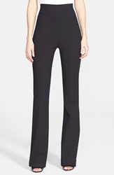 Donna Karan High Waist Stretch Crepe Pants Black