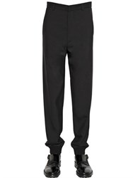 Lanvin Viscose And Wool Blend Twill Pants