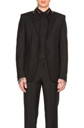 Givenchy Slim Fit Zip Collar Blazer In Black