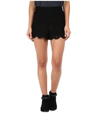 Free People Scalloped Lace Short Black Women's Shorts