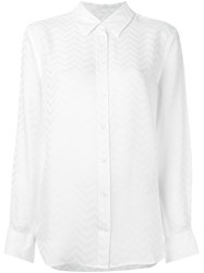 Equipment Chevron Effect Shirt White