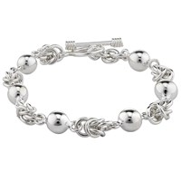 Andea Sterling Silver Ball And Knot Bracelet Silver
