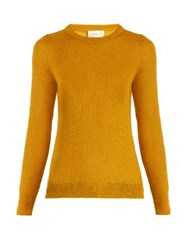 Simon Miller Tatum Mohair Blend Sweater Yellow