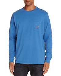 Vineyard Vines Whale Graphic Long Sleeve Pocket Tee Wipeout