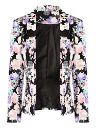 Jane Norman Floral Print Jacket Multi Coloured