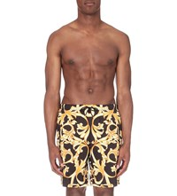 Versace Baroque Swim Shorts Black Gold