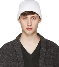 Christophe Lemaire White Ribbed Beanie